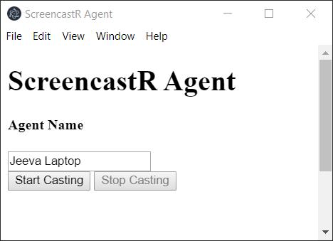 screencastR - Simple screen sharing app using SignalR streaming